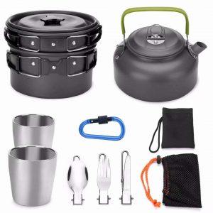 utensilios de cocina acampada